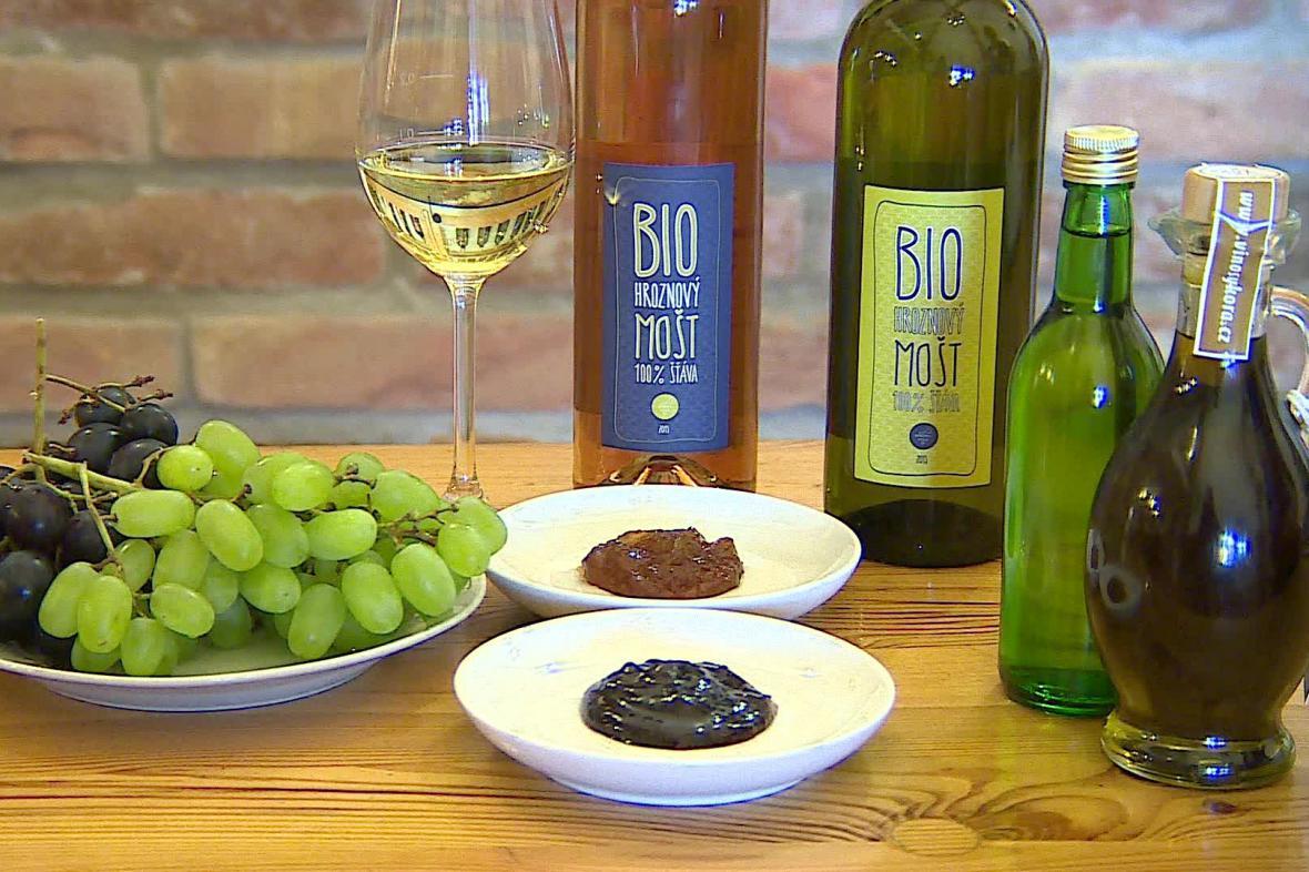Produkty z odpadu při výrobě vína