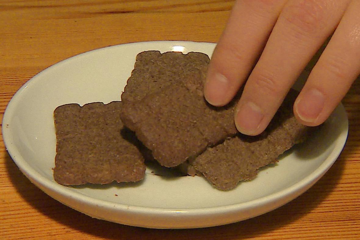 Sušenky z vinné mouky