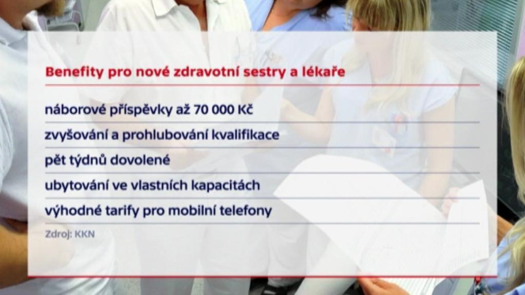 Benefity nabízené novým sestrám a lékařům v karlovarské nemocnici