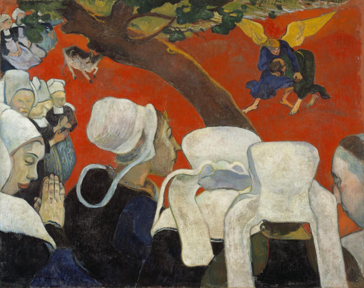 Paul Gauguin / Vize kázání, 1888