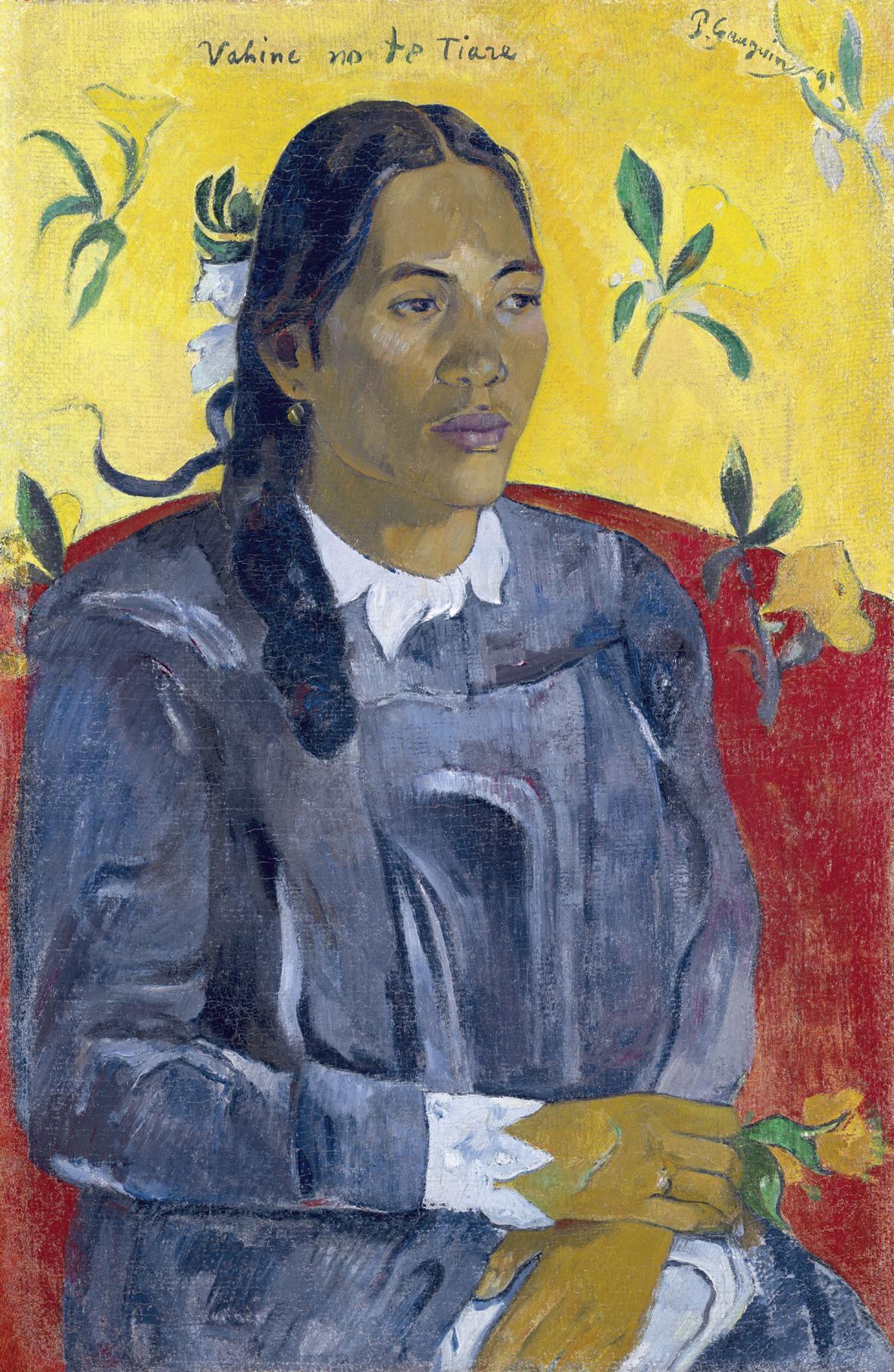 Paul Gauguin / Žena s květinou, 1891