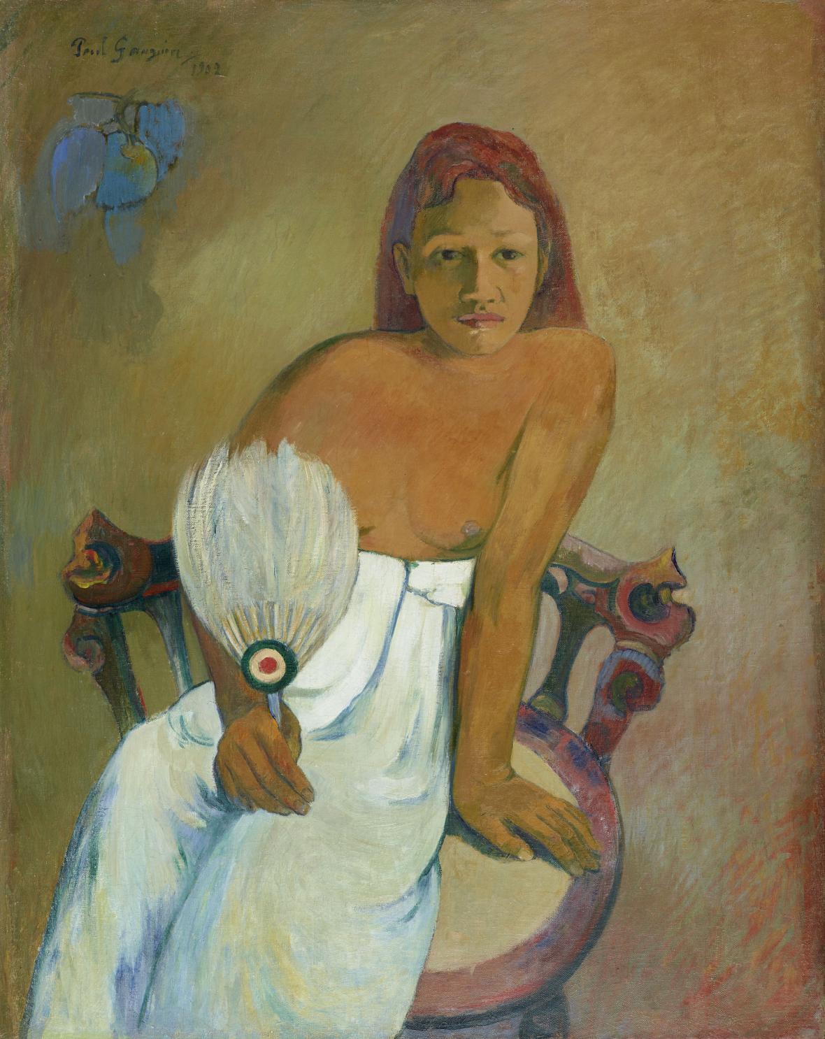 Paul Gauguin / Dáma s vějířem, 1888