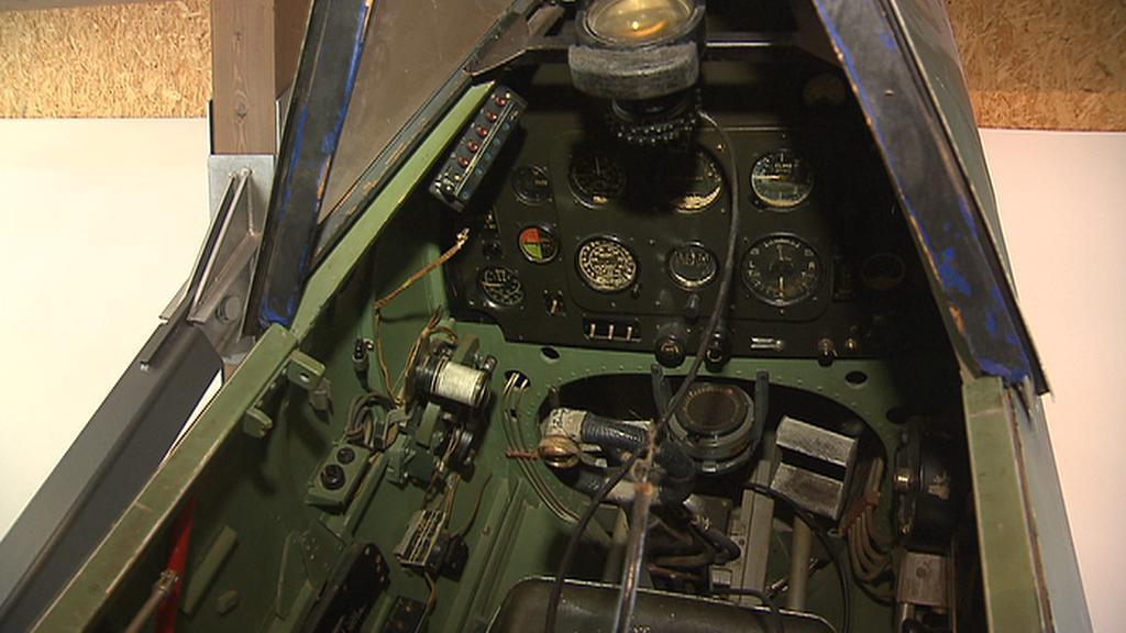 Kokpit stíhačky Spitfire
