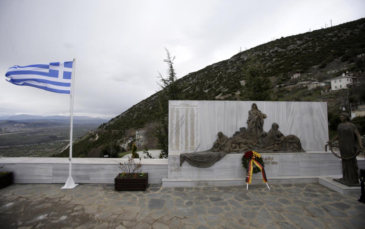 Pomník obětí nacismu v řecké obci Ligiades