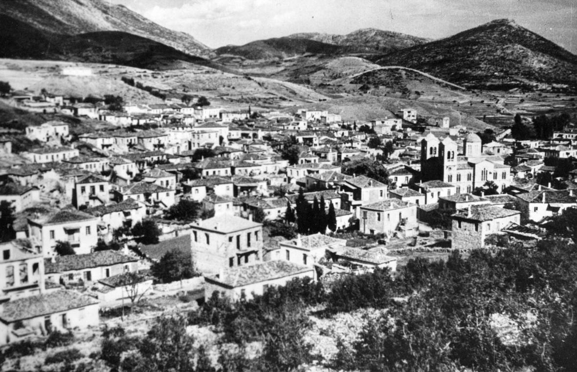 Obec Distomo v roce 1944