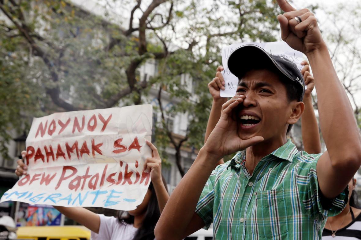 Protest kvůli únosům