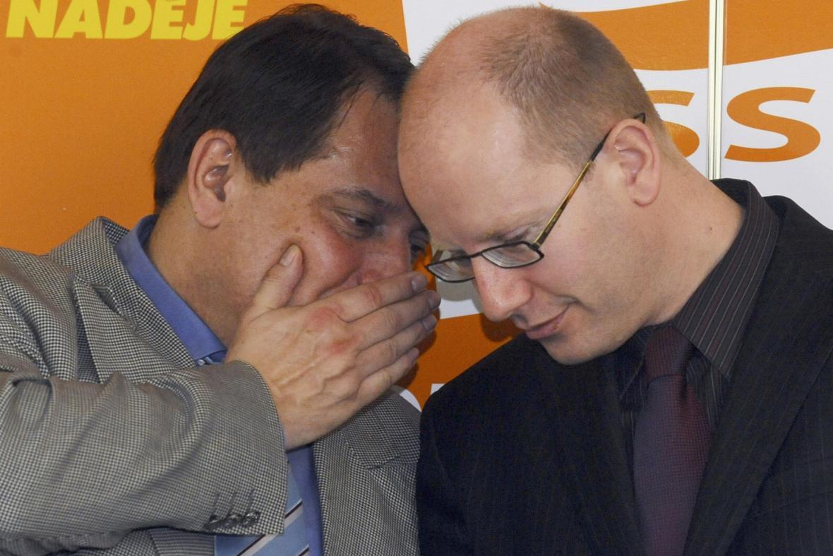 Jiří Paroubek a Bohuslav Sobotka