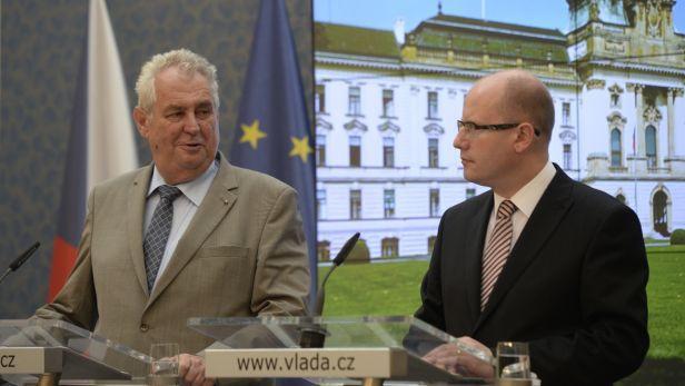 Miloš Zeman a Bohuslav Sobotka