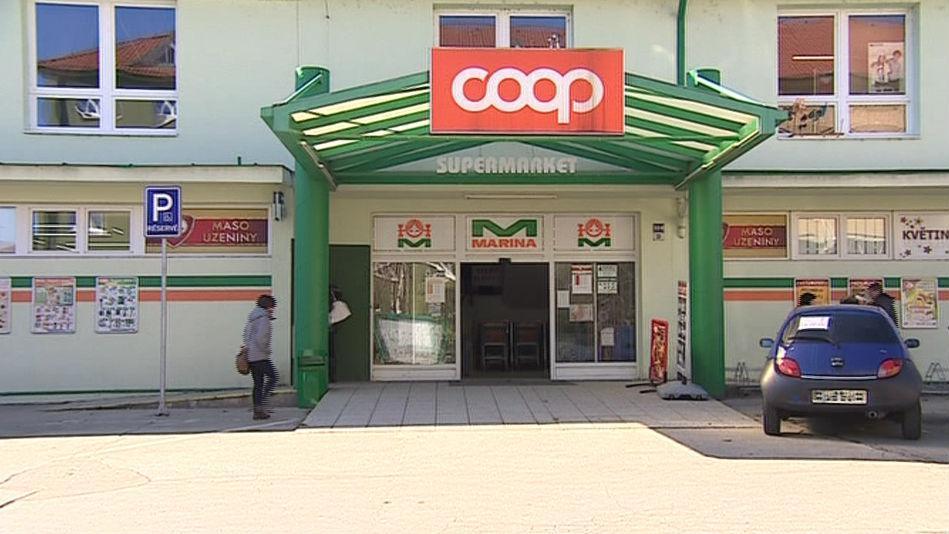 Hodonínská prodejna Coop, ve které se prodávala polská vejce v českém obalu