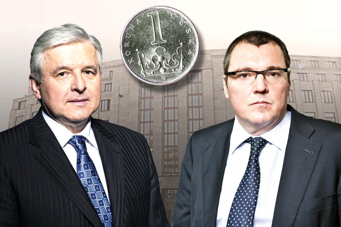 Jiří Rusnok a Miroslav Singer