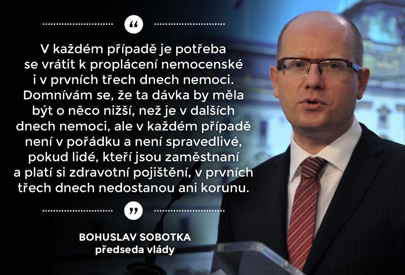 ČSSD sdílí na sítích stanoviska premiéra Sobotky