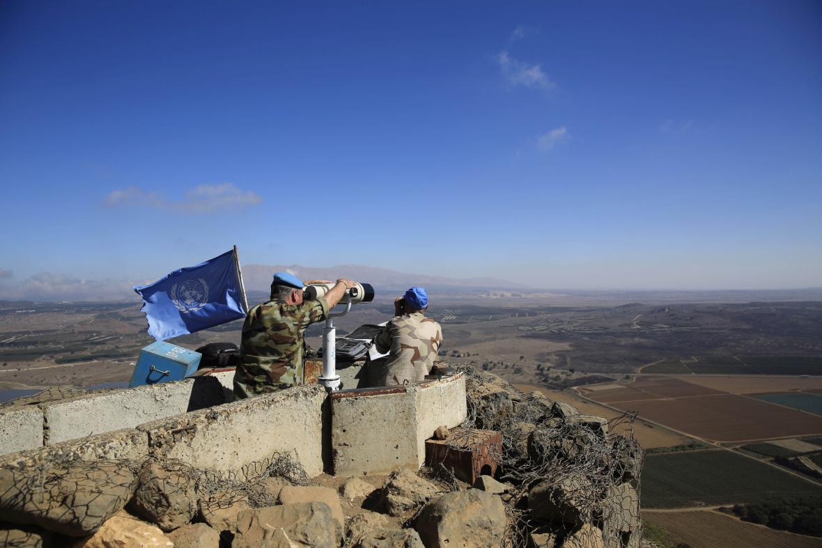 Příslušníci mise OSN na Golanských výšinách