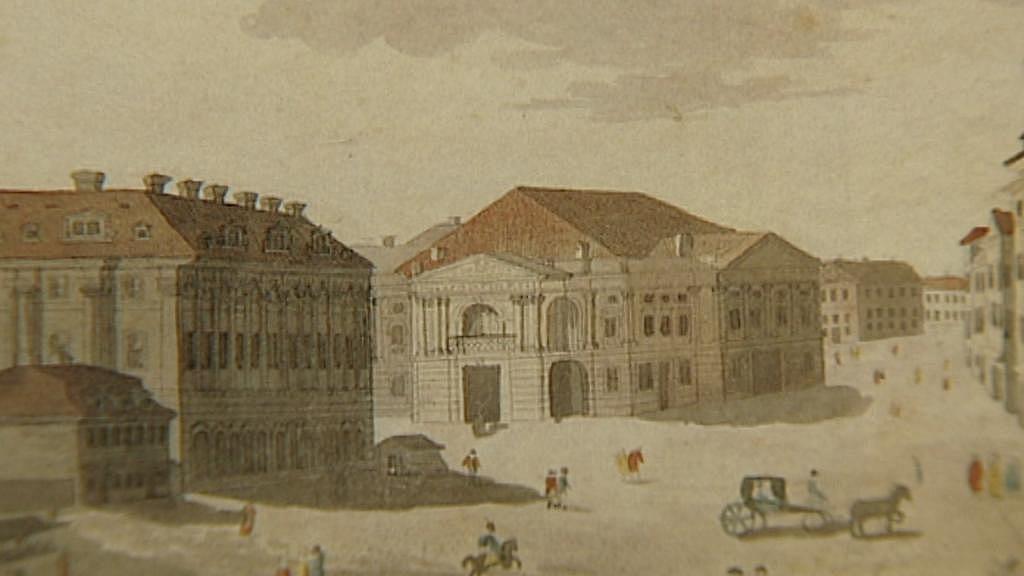 Stavovské divadlo na dobové ilustraci