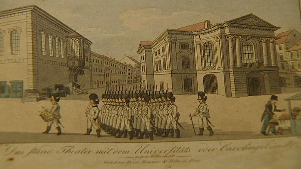 Dobová ilustrace Stavovského divadla