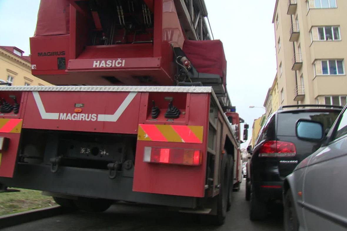 Průjezd hasičů