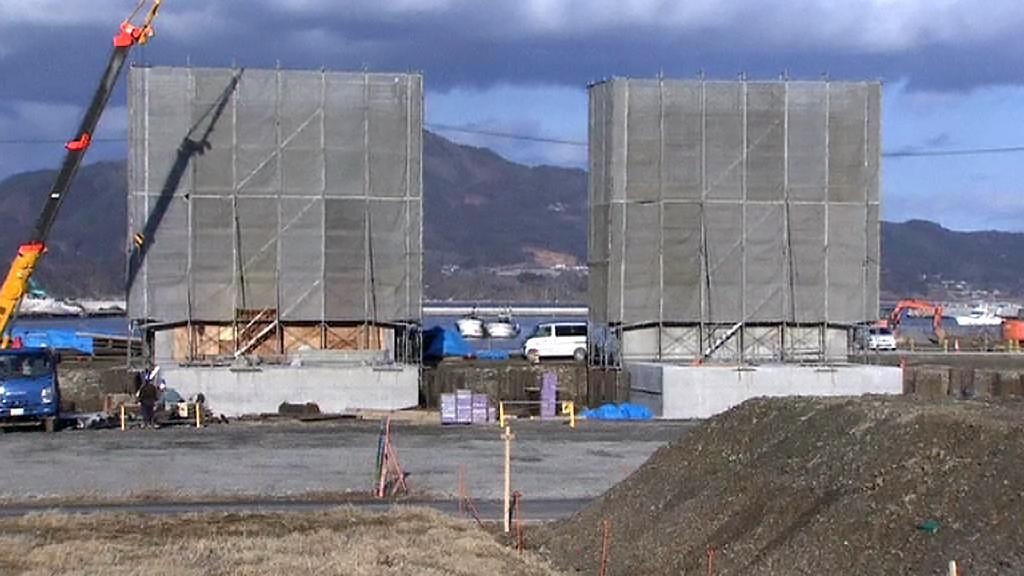 Tsunami má zastavit speciální betonová zeď
