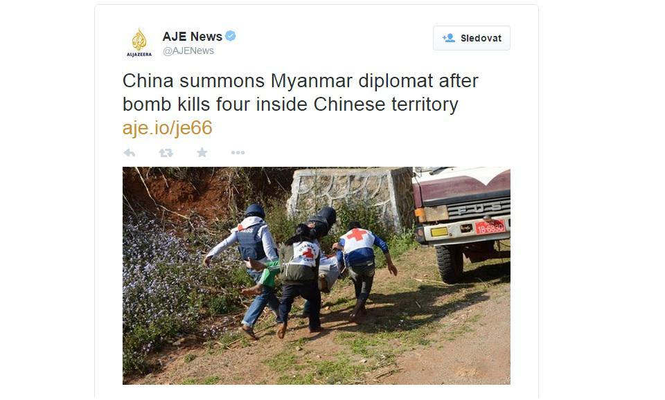 Útok v Číně se odrazil i na Twitteru