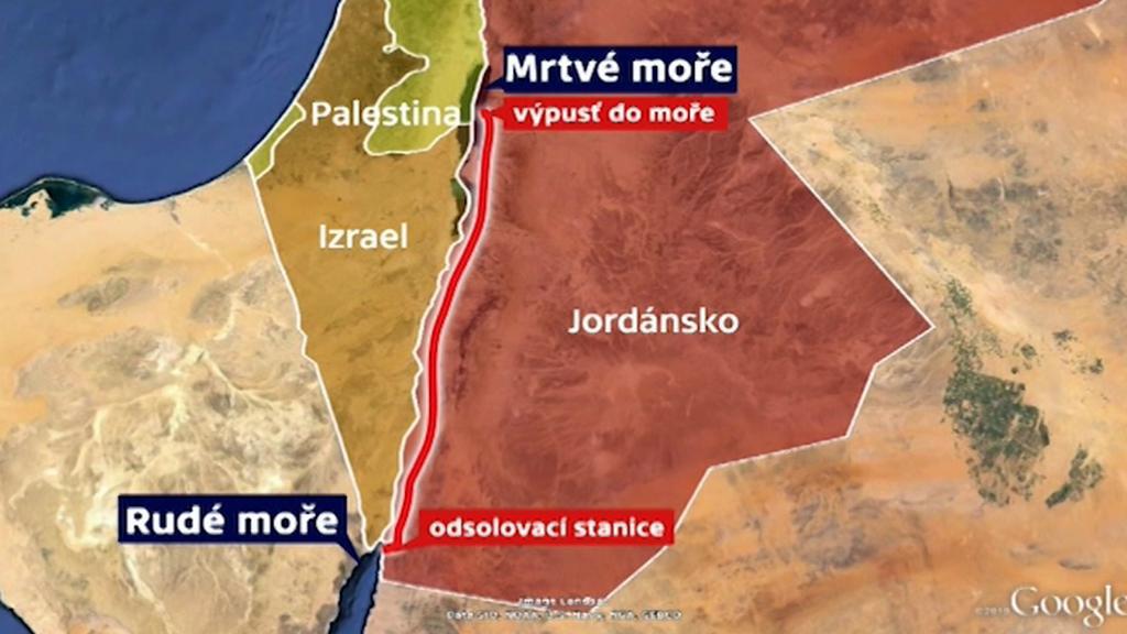 Odsolovací stanice u Rudého moře má pomoci Mrtvému moři