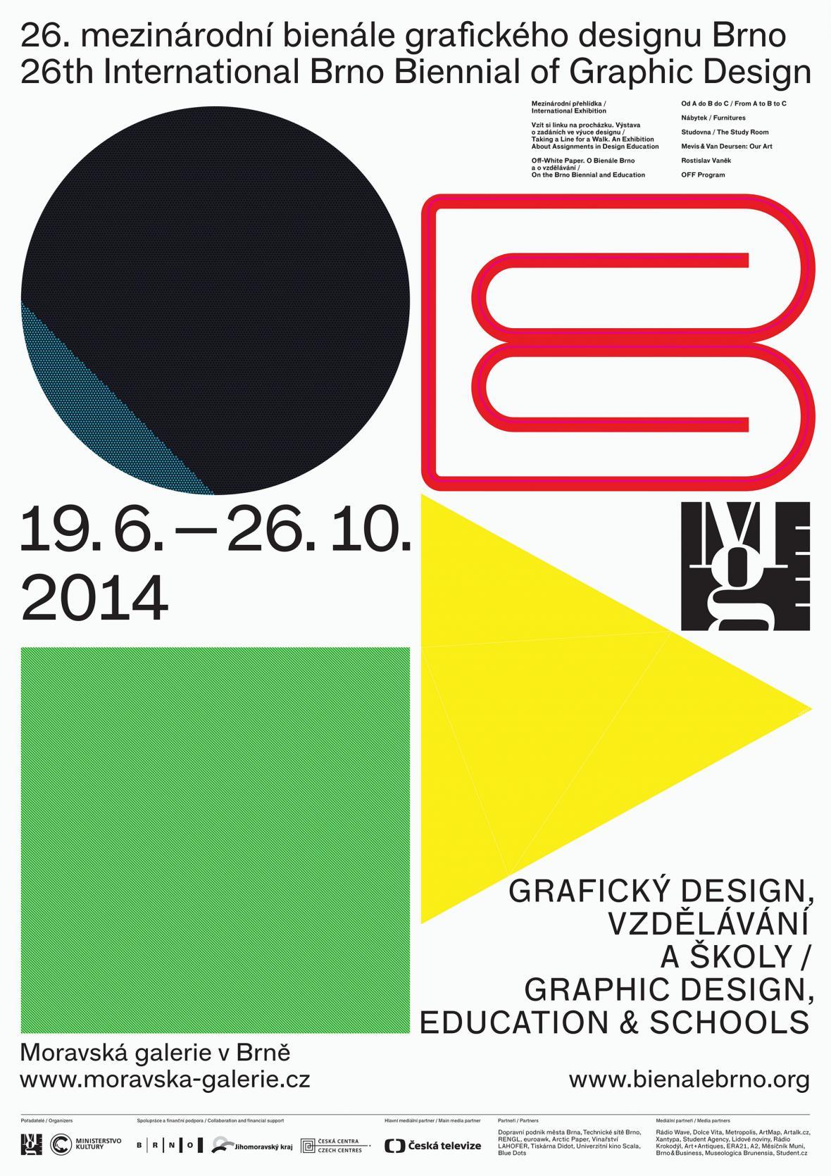 Vizuál 36. bienále grafického designu v Brně
