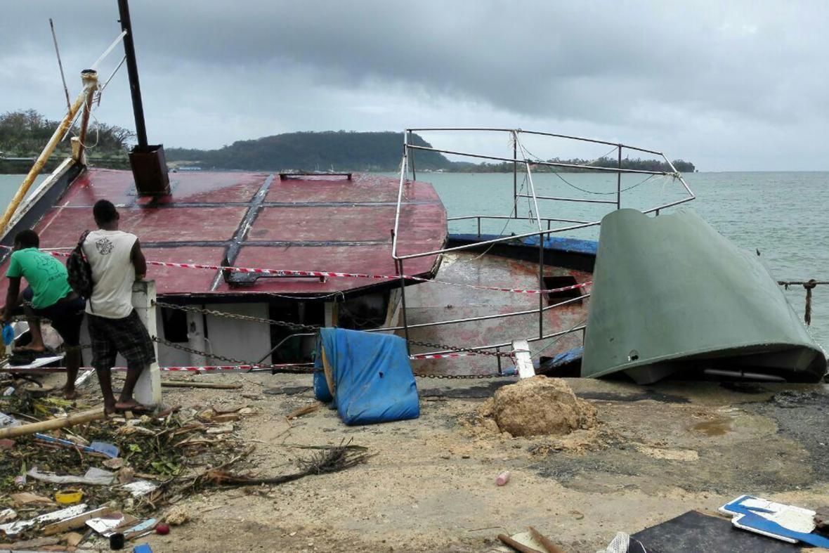 Následky tropické bouře Pam na souostroví Vanuatu