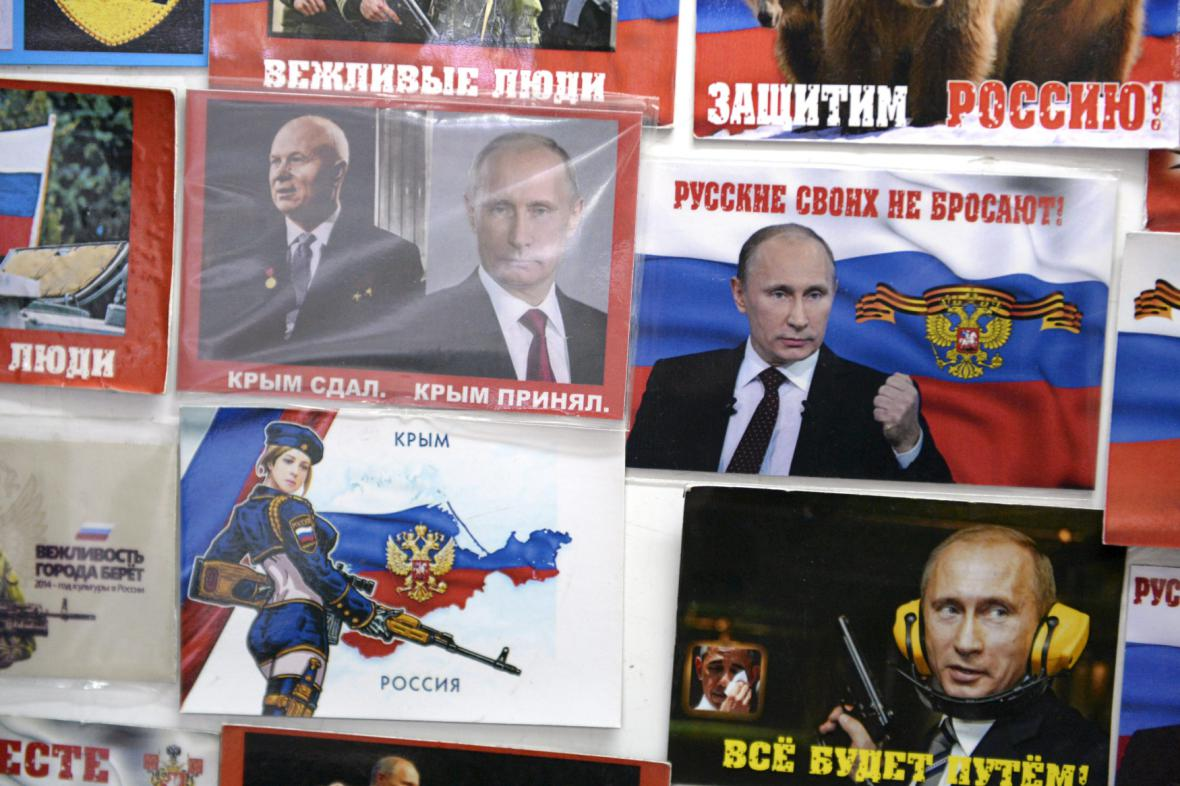 Tisk na Krymu informuje o výročí anexe Ruskem