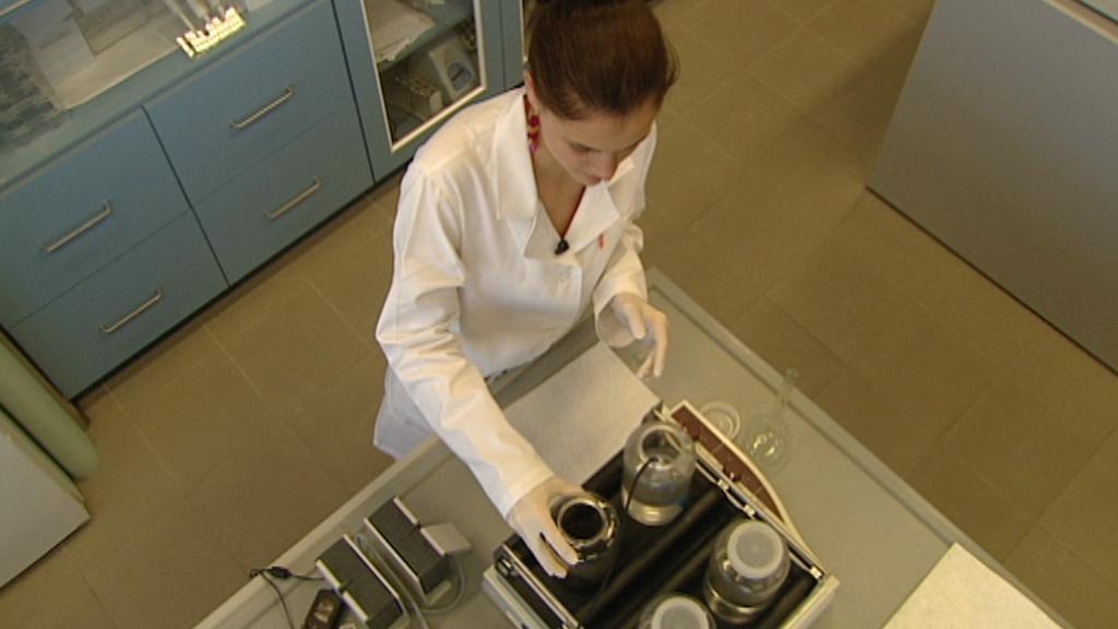 Testování sorbentu v laboratoři