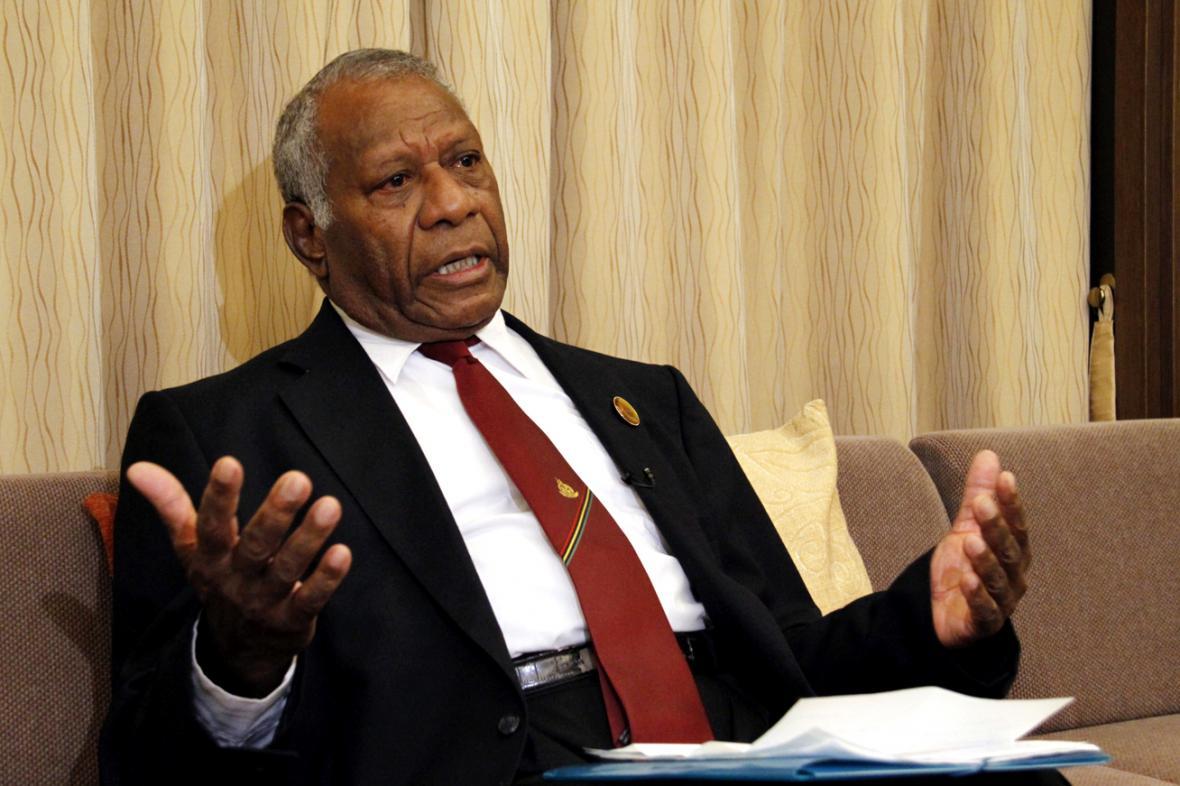 Vanuatský prezident Baldwin Lonsdale