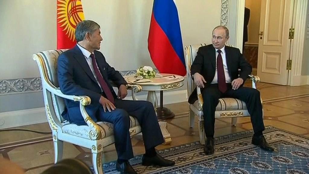 Vladimir Putin s Almazbekem Atambajevem