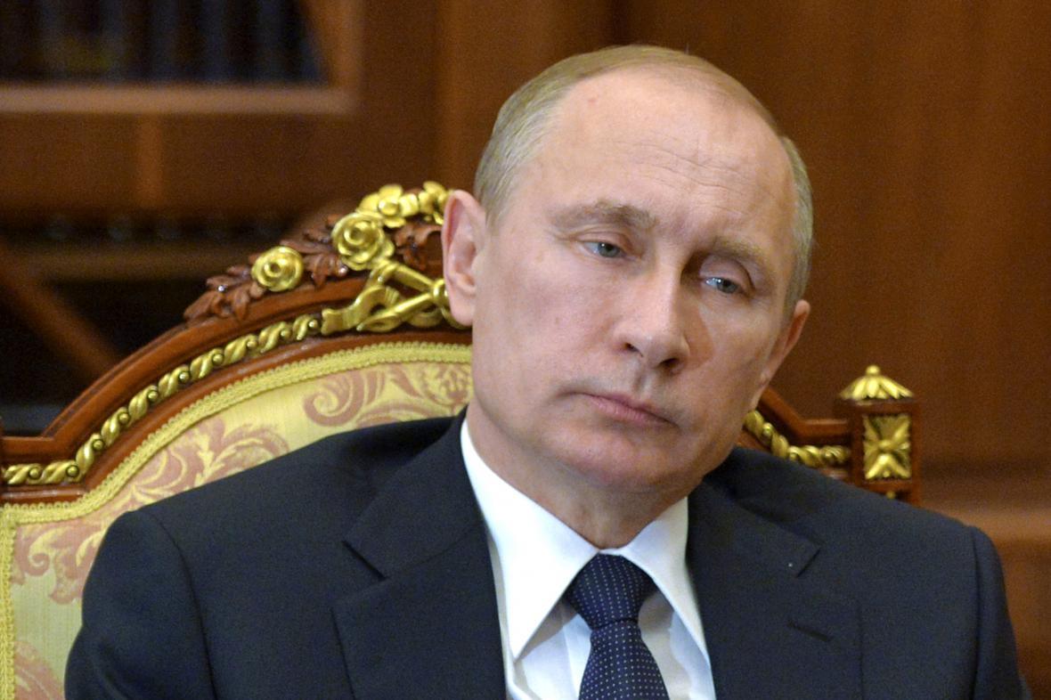 Údajný snímek Vladimira Putina z kremelské schůzky z 11. března