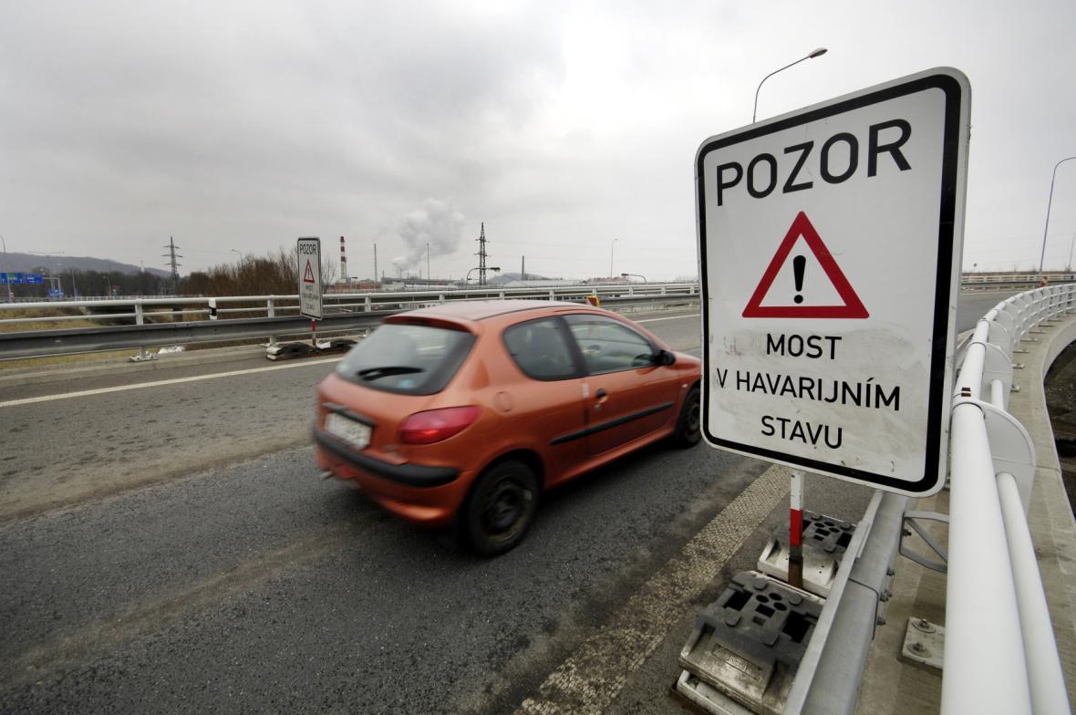 Dálniční most na D1 v Ostravě