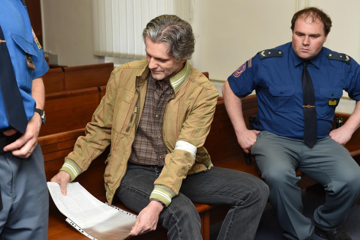 Pavel Torma před senátem Vrchního soudu v Olomouci