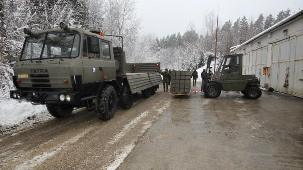 Transport munice ve Vrběticích