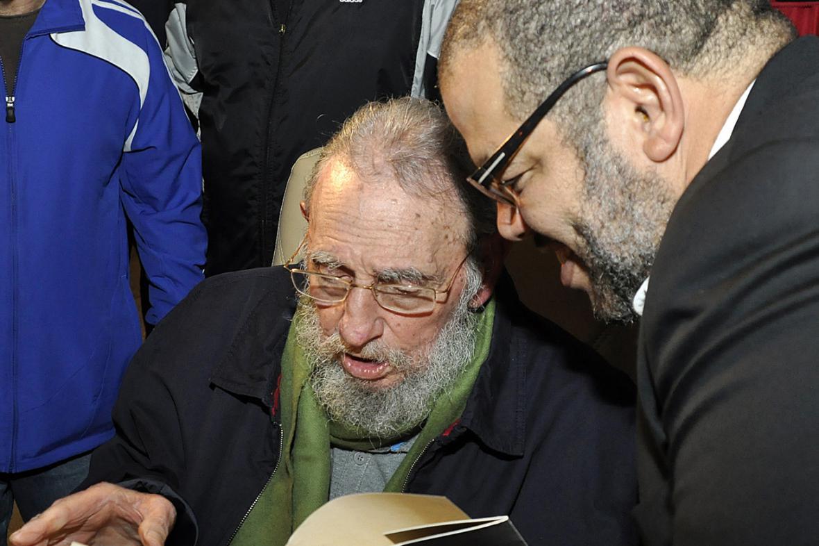 Fidel Castro a Kcho