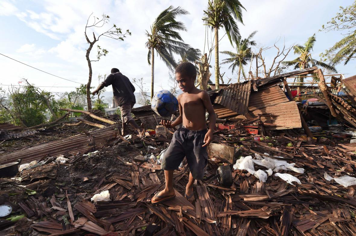 Následky tropické bouře Pam na Vanuatu