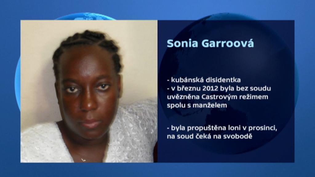 Kubánská disidentka Sonia Garro