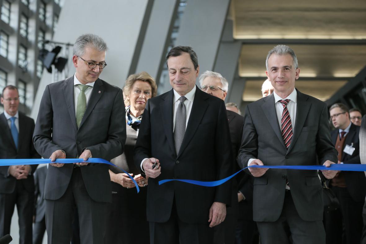 Slavnostní otevření nového sídla ECB