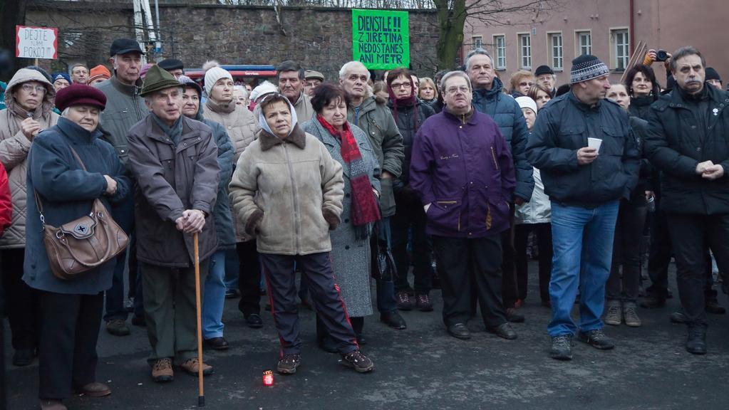 Demonstrace za zachování těžebních limitů
