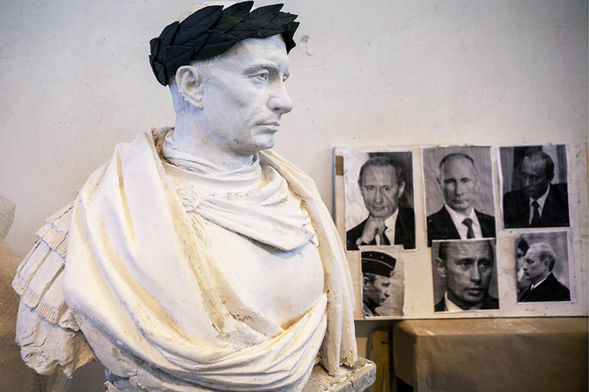 Busta imperátora Putina