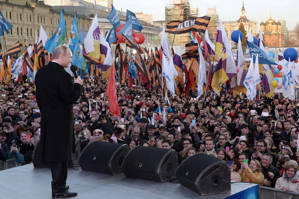 Vladimir Putin pozdravil účastníky koncertu