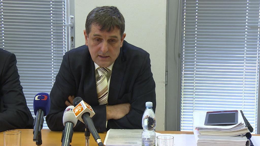 Libor Joukl na tiskové konferenci