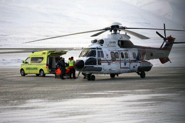 Vrtulník převezl zraněného Čecha do nejbližší nemocnice