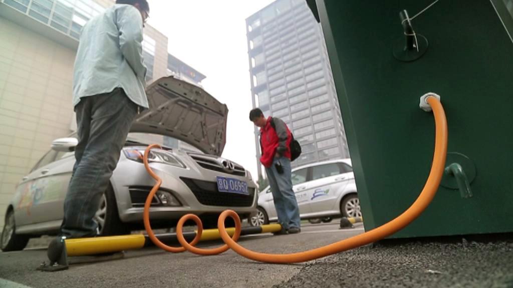 Nabíjecí stanice pro čínské elektromobily