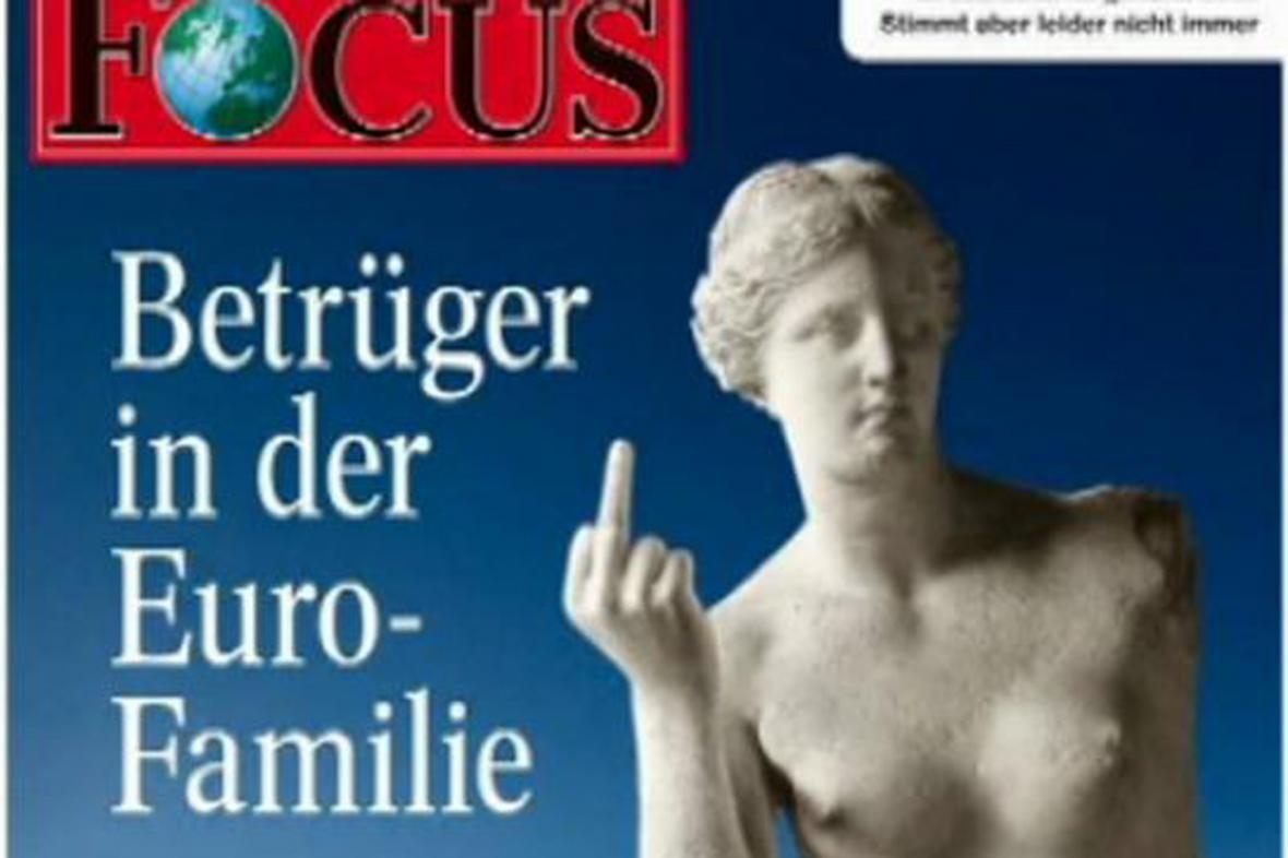 Obálka týdeníku Focus z roku 2010