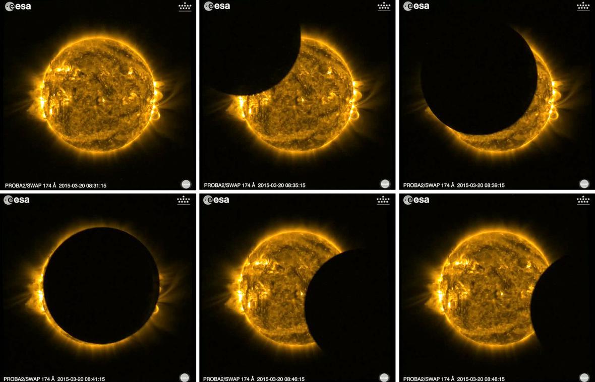 Zatmění Slunce při pohledu z vesmíru
