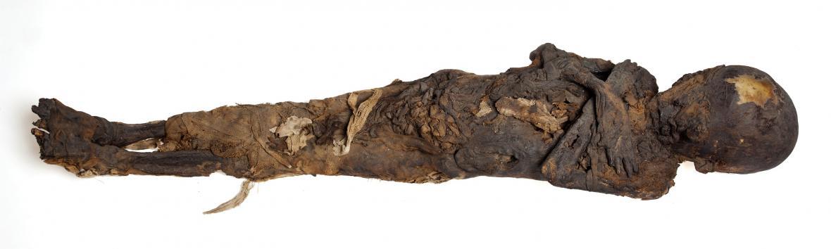 Egyptská mumie pětiletého dítěte