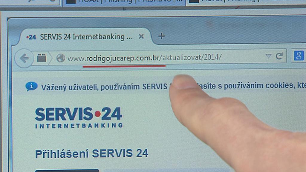 Podvodný web s brazilskou doménou
