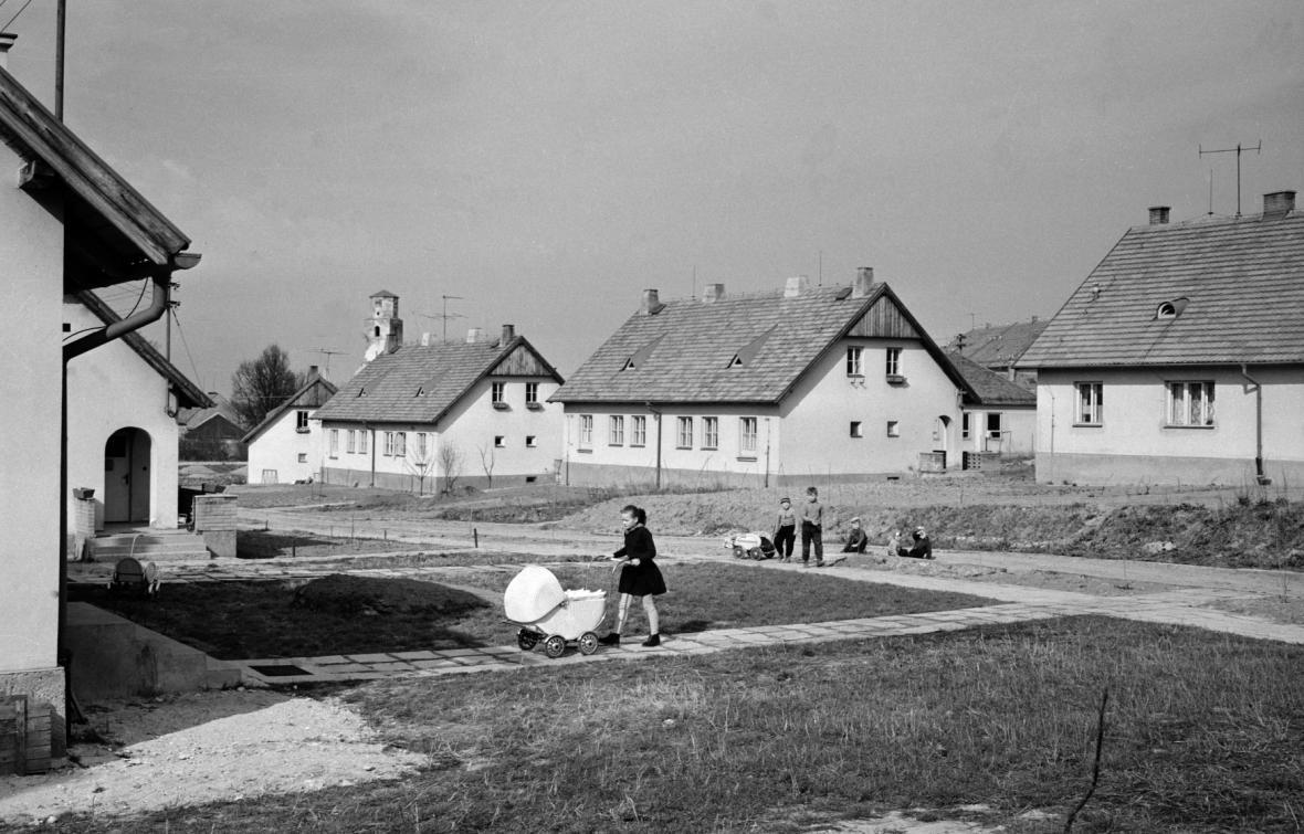 Koncem války zničená Osoblaha po obnově v roce 1960