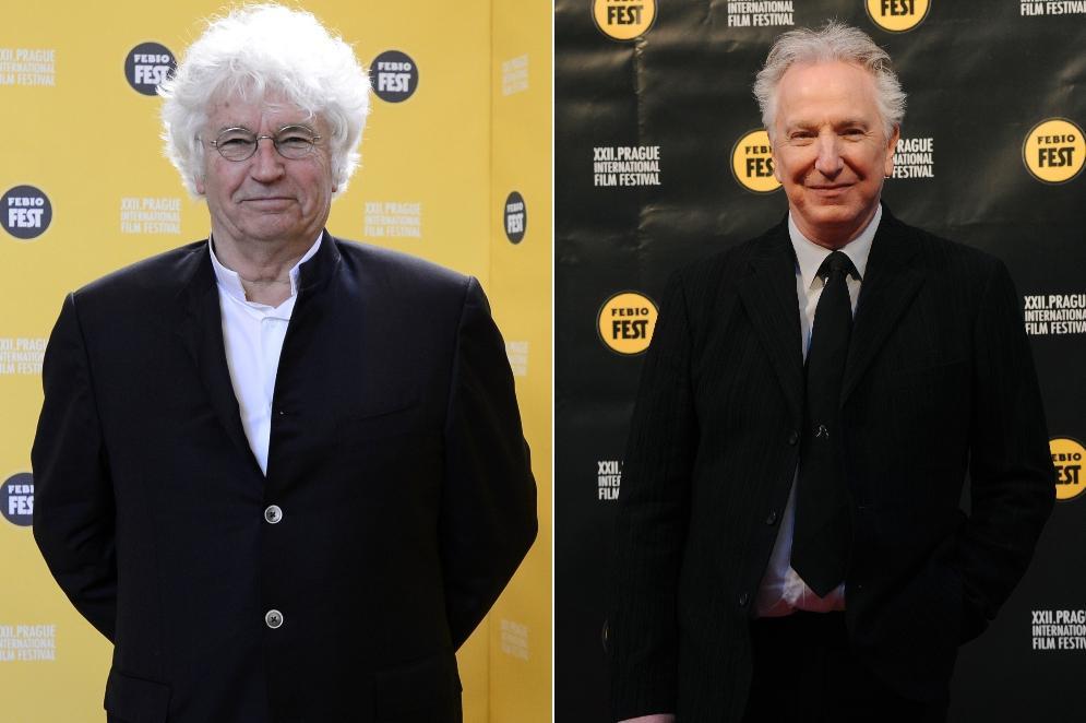 Jean-Jacques Annaud (vlevo) a Alan Rickman na 22. Febiofestu