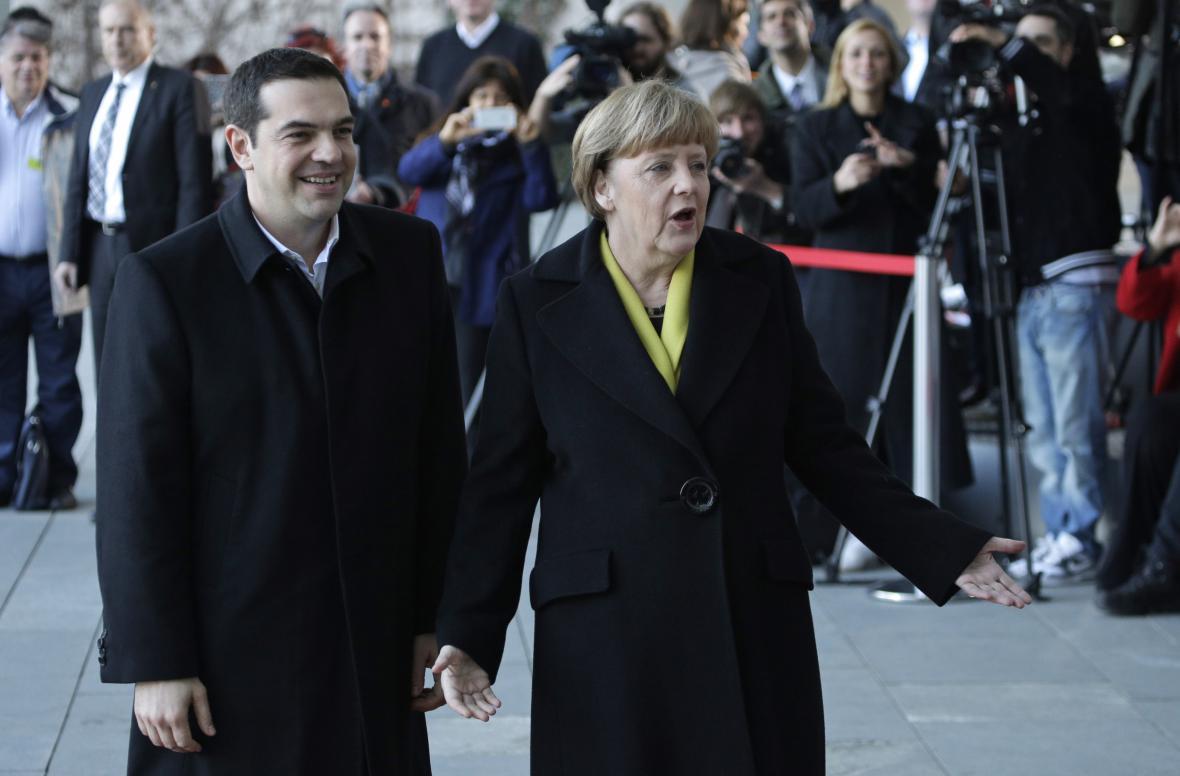 Merkelová a Tsipras v Berlíně