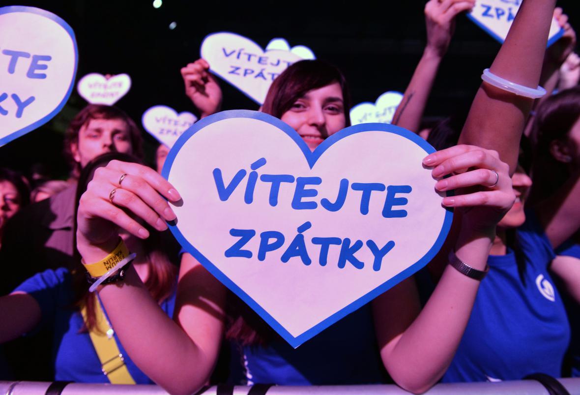 Fanoušci vítají Michala Hrůzu
